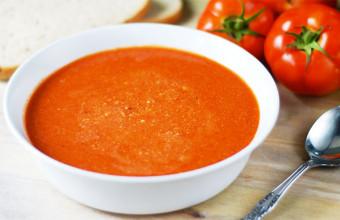 Холодный суп с помидорами