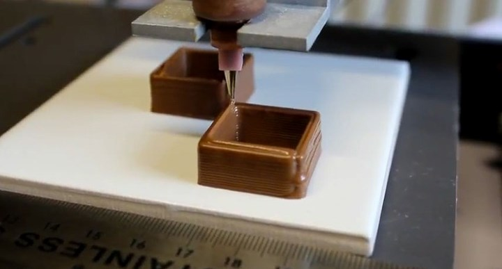 Шоколад, напечатанный на принтере