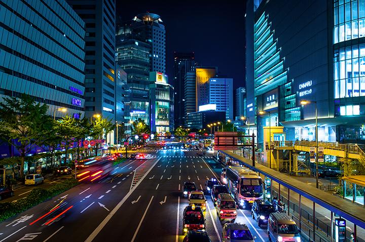 улицы японских городов