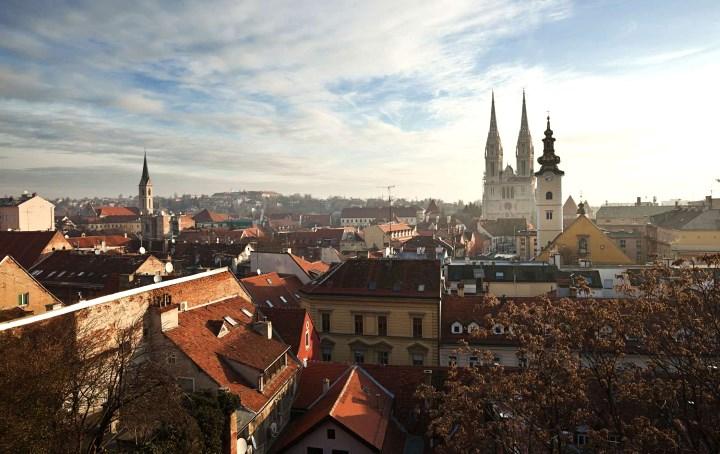 город Загреб в Хорватии