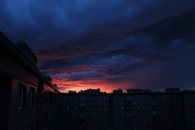закат в Питере