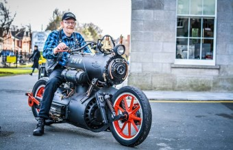 Мотоцикл на паровой тяге