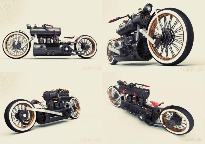 «Train Wreck» - мотоцикл на пару