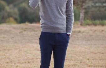 Классический мужской лук в сухую погоду