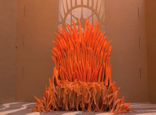 Трон из морковки