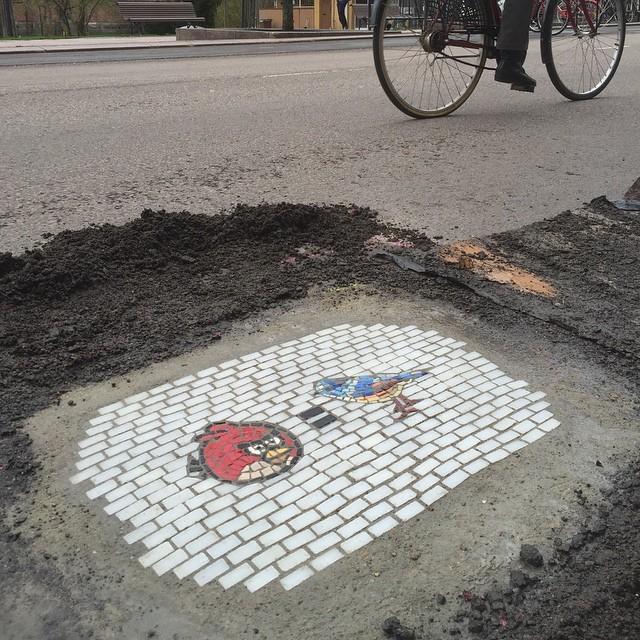 Мозаика в дорожной яме 9