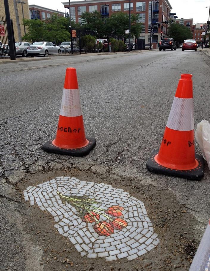 Мозаика в дорожной яме 2