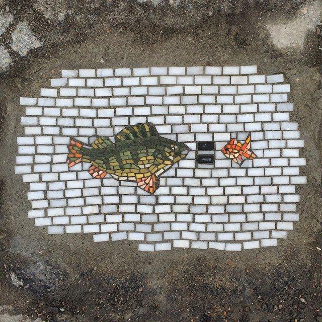 Мозаика в дорожной яме 6