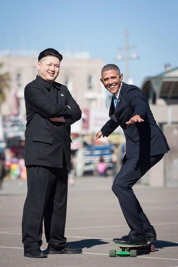Барак Обама и Ким фото 2