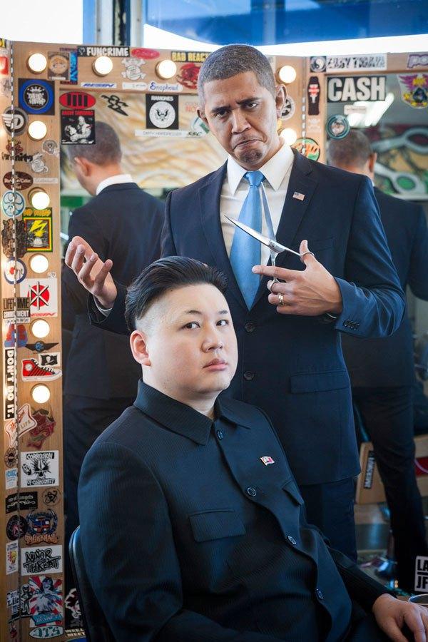 Барак Обама и Ким фото 5