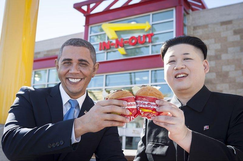 Барак Обама и Ким фото 7
