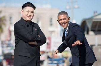 Двойник Обамы и Ким Чен Ына