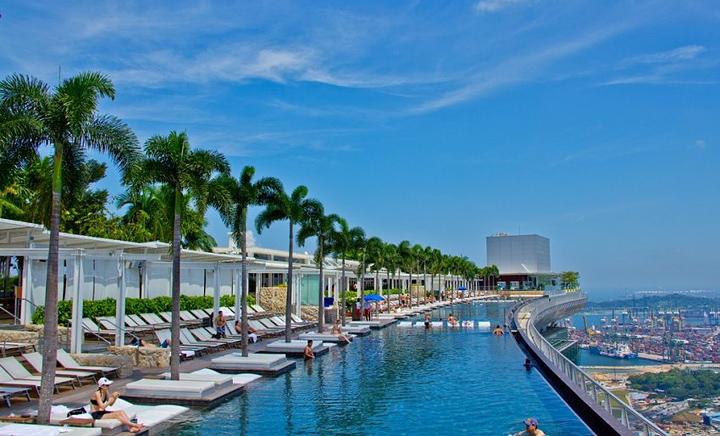 Отель с бассейном на крыше - Марина Бэй 5