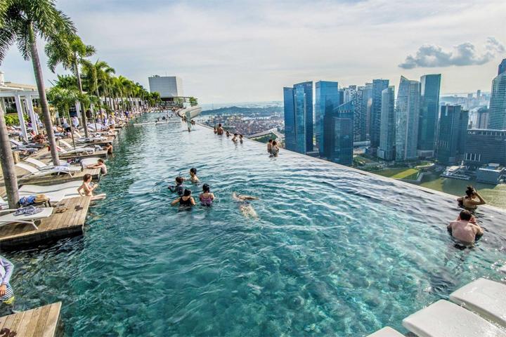 Отель с бассейном на крыше - Марина Бэй 8