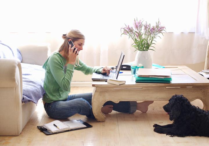 Работа из дома вместо офиса