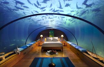 Номер в подводном отеле