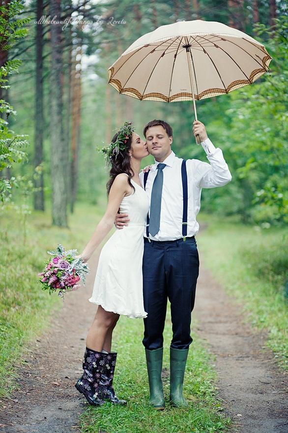 Фото свадьбы под дождем