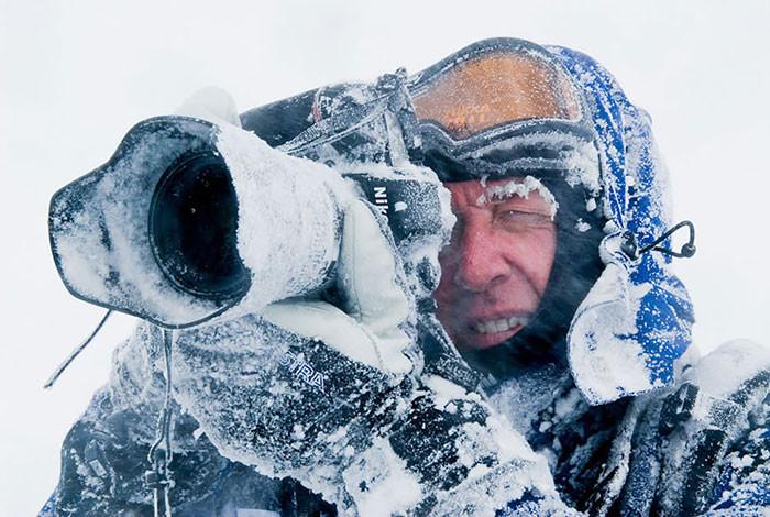 Экстремальная фотография зимой