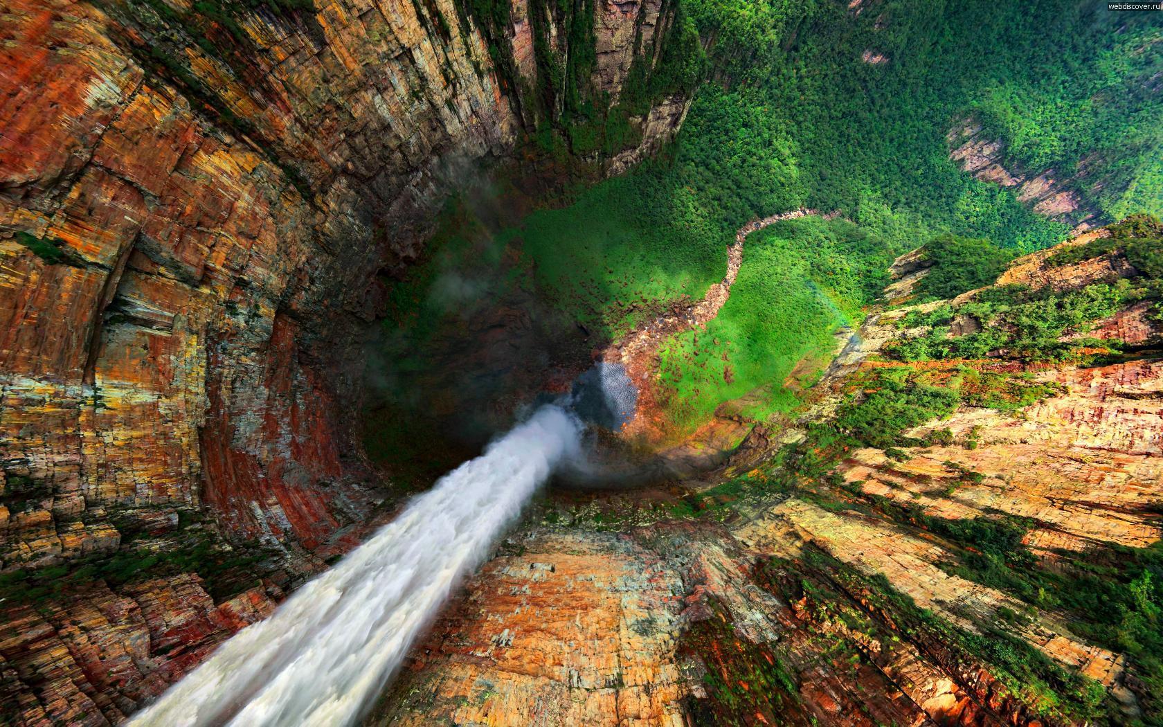 водопады горы Рорайма