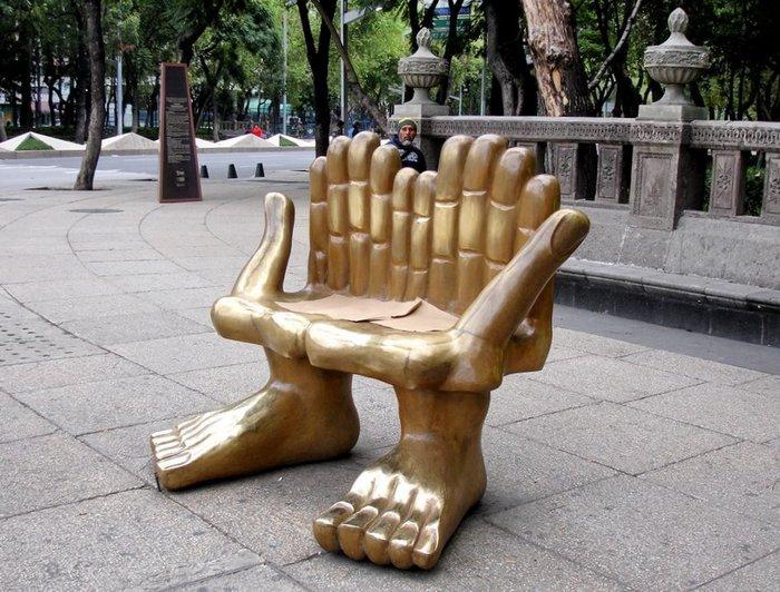 Скамейки с оригинальным дизайном