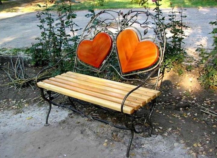 Оригинальные скамейки