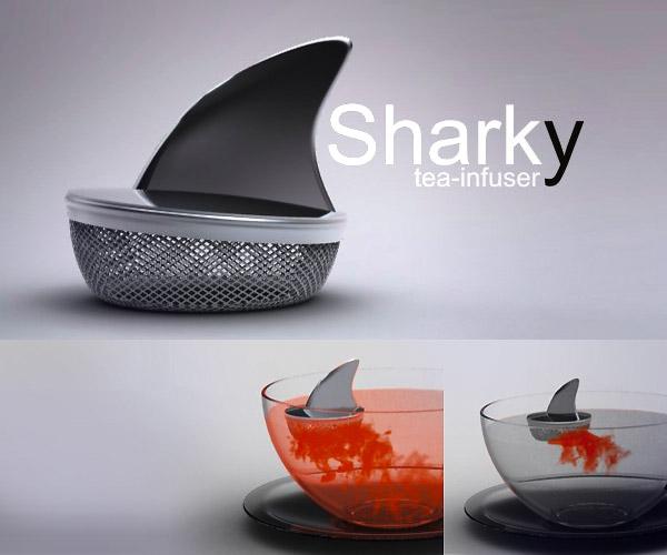 заварник для чая - акула