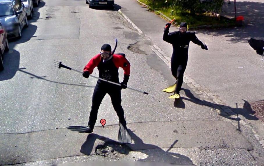 Смешные фото в Google Street View 2
