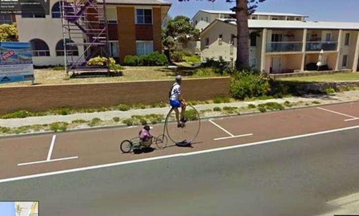 Смешные фото в Google Street View