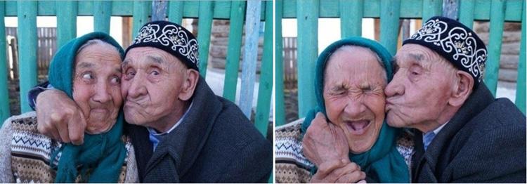 Смешные влюбленные старики