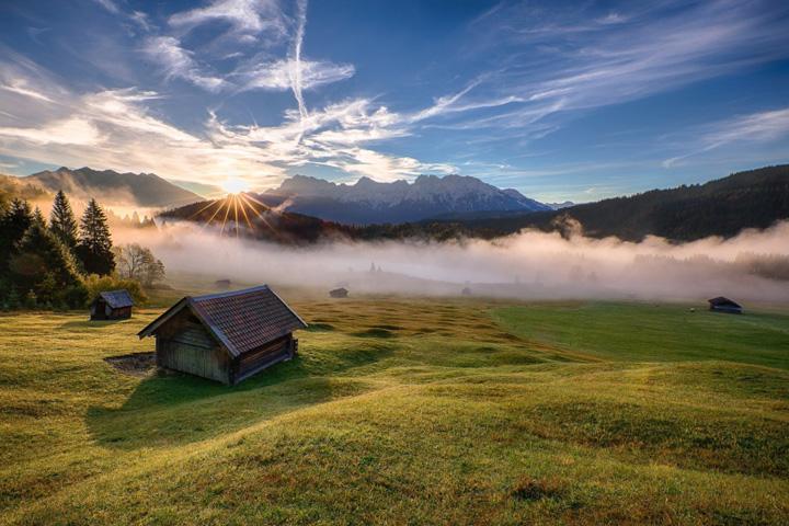 Пейзажи, укутанные туманом