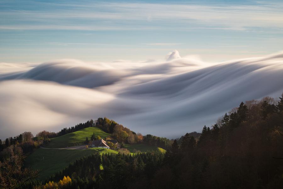 Пейзажи, укутанные туманом 12