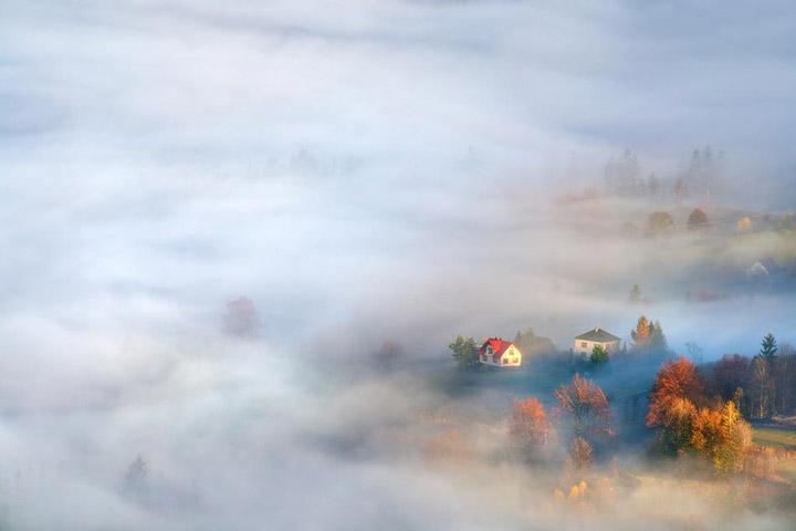 Пейзажи, укутанные туманом 7