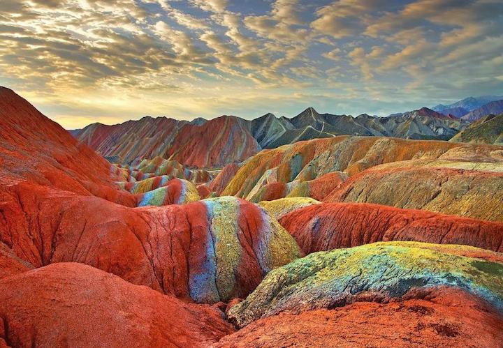 Разноцветные холмы Ганьсу