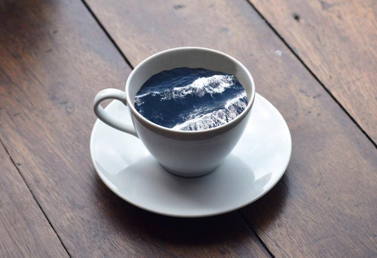 Пейзажи в кружке кофе 1