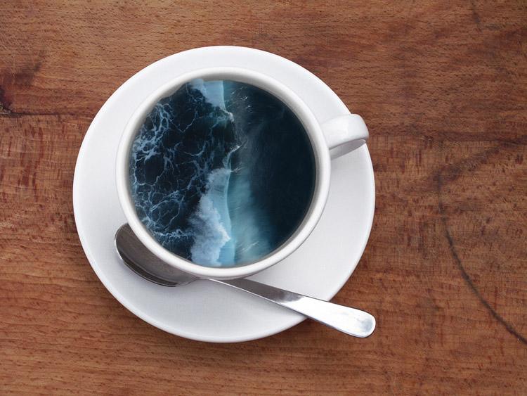 Пейзажи в кружке кофе 3