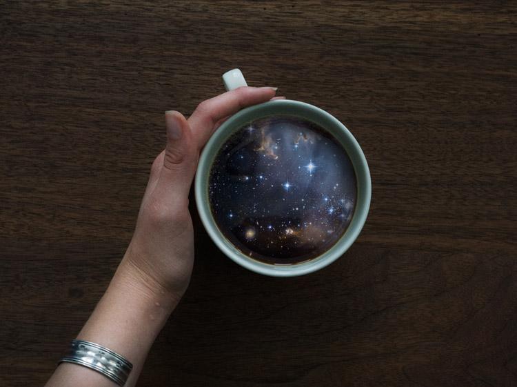 Пейзажи в кружке кофе 4