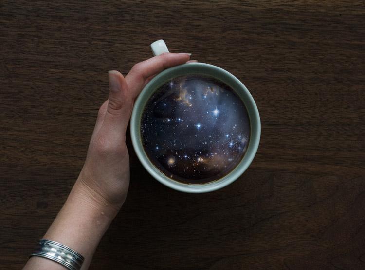 Пейзажи в кружке кофе 6