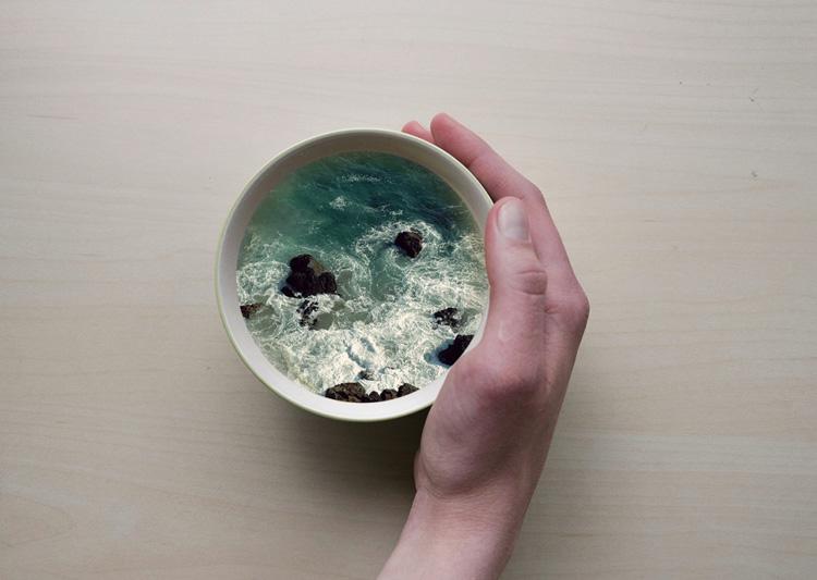 Пейзажи в кружке кофе 9