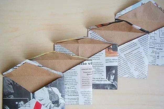 Конверты из газетной бумаги