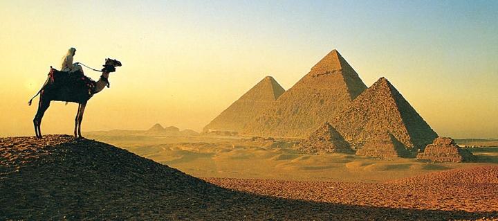 Древние пирамиды в Гизе