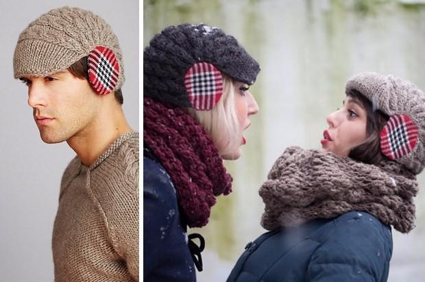Зимняя шапка с защитой для ушей
