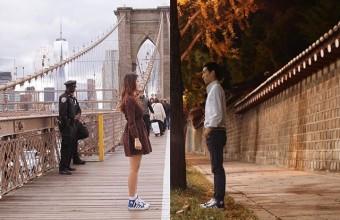 Большое расстояние не помешало паре сделать совместные фотографии