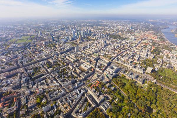 Панорама города и Королевской дороги польша
