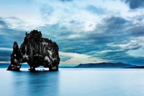 Скала Хвитсеркур в исландии