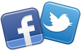 фейсбук и твиттер