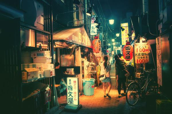 улицы ночного токио