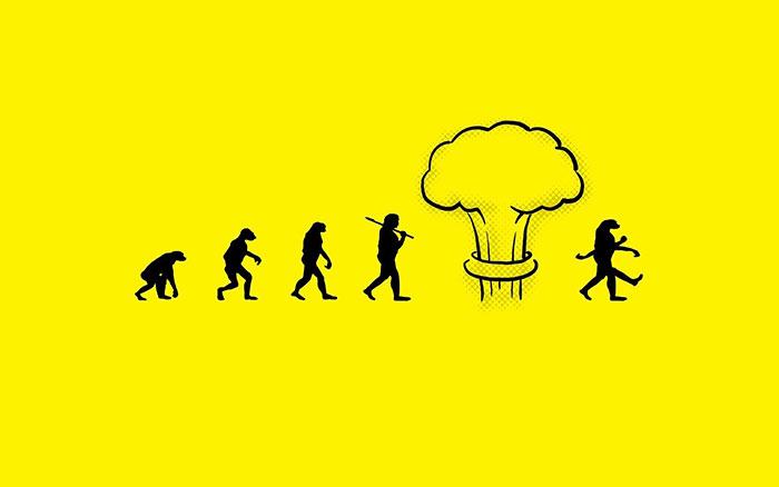 эволюция до и после ядерного взрыва