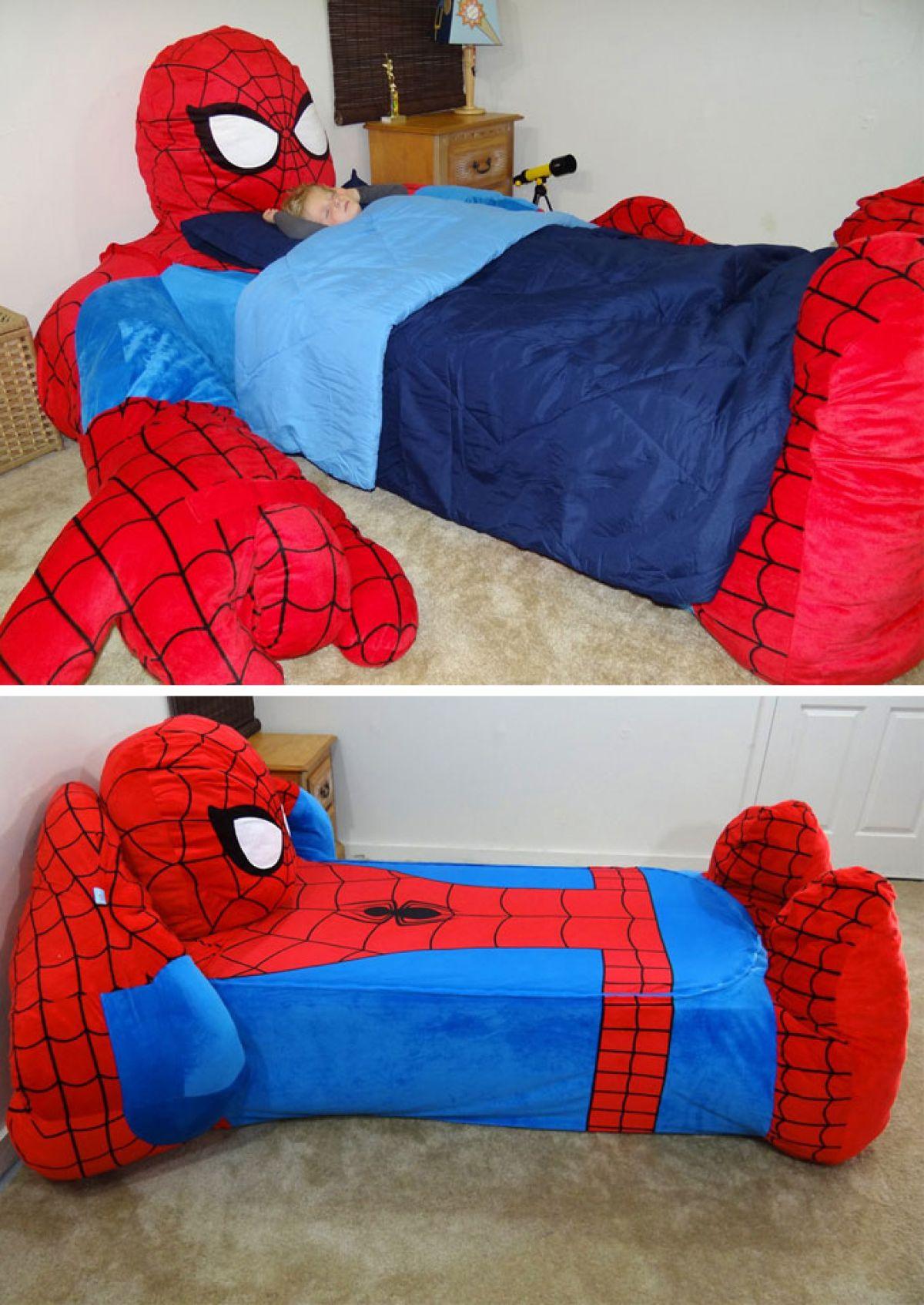 кровать спайдермена