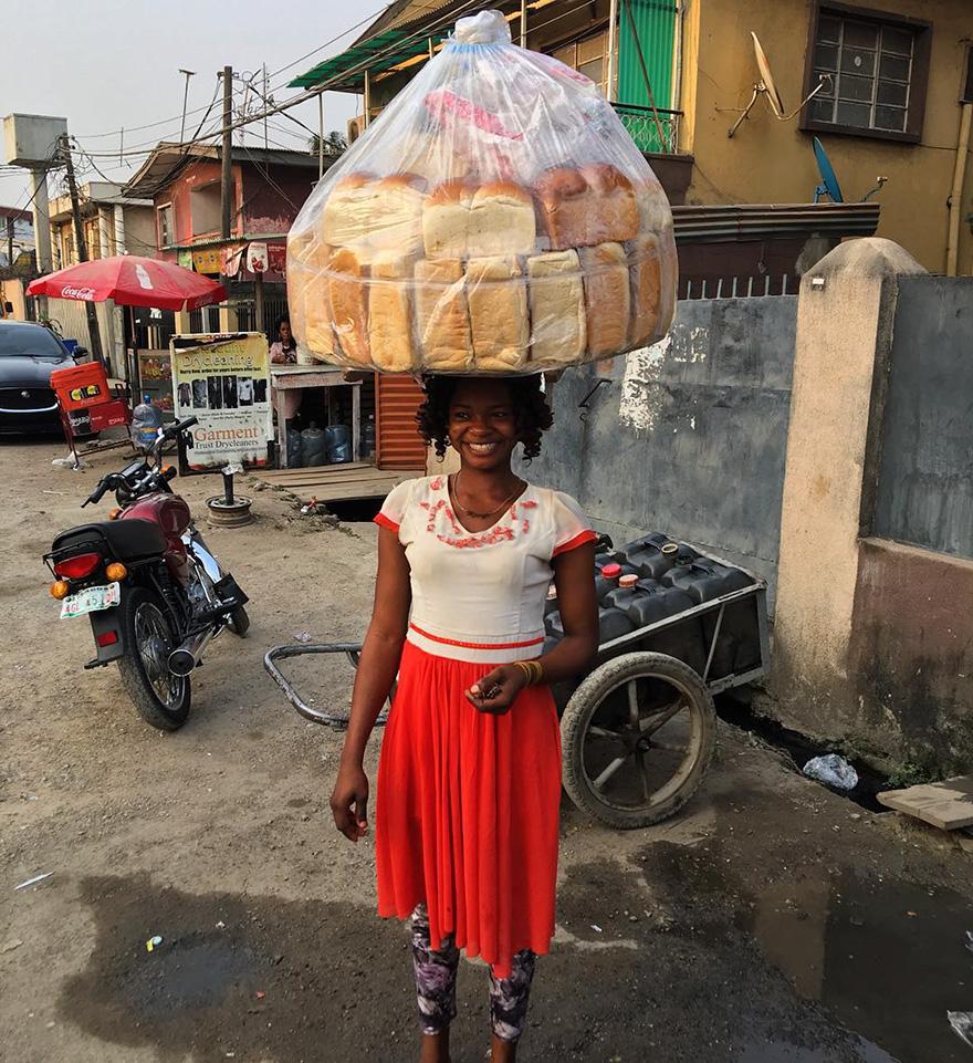 продавец хлеба нигерия