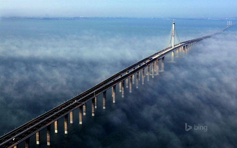 самый длинный надводный мост